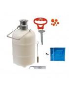 Adaptadores y barriles de limpieza